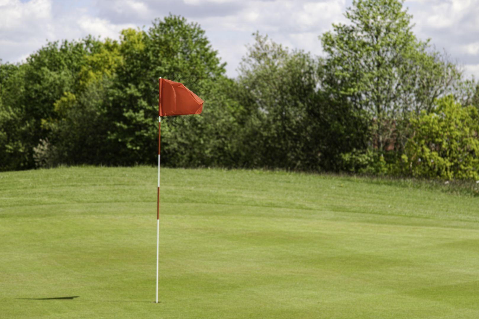 Fahne auf dem Golfplatz in Lilienthal