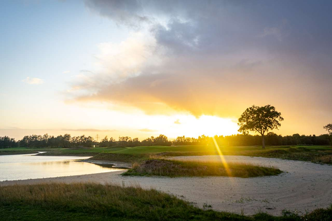 Golfplatz Lilienthal - Sonnenuntergang
